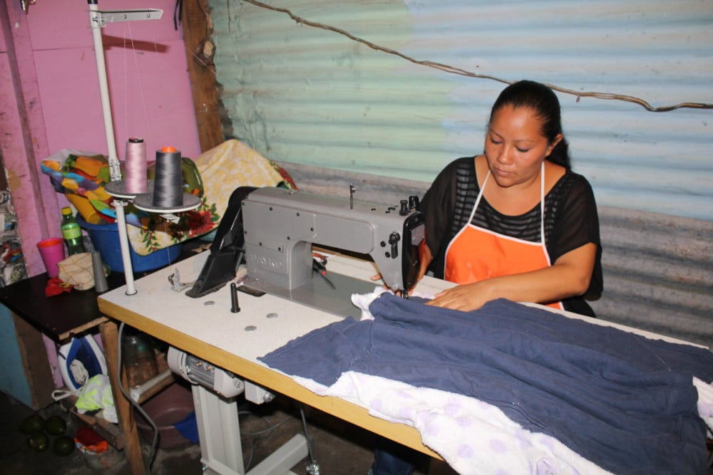 Carmen is one of the women entrepreneurs in the Project. She makes fabric mops